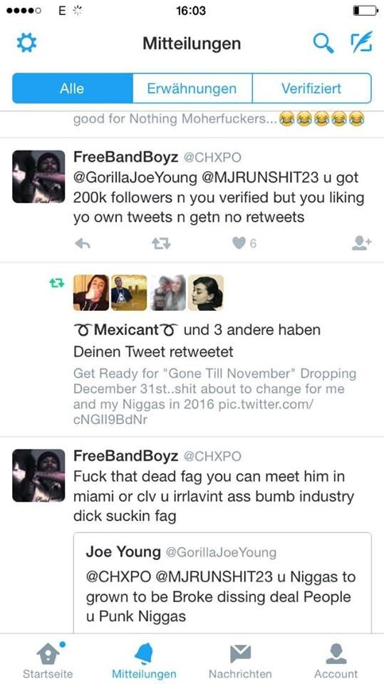 Spaceghostpurrp & CHXPO Exchange Words With Joe Young On Twitter (over ASAP YAMS Diss)