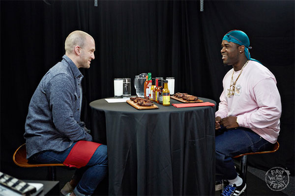 ASAP Ferg Faces Hot Questions & Even Hotter Wings on 'Hot Ones'