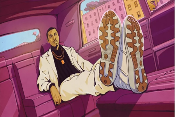 Nas Gets Transformed Into An Animated Character in the Timberland Legends Collection Video
