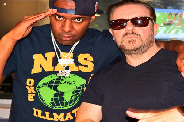 Comedian Ricky Gervais Tells DJ Whoo Kid People Underestimate How Funny Rap Is, Talks About Being Scared of Jay Z