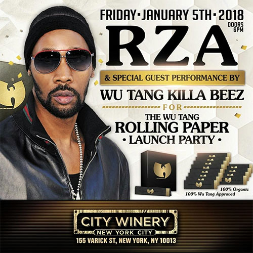 RZA - Announces NYC Show/Launch Party for WU-TANG Rolling Papers