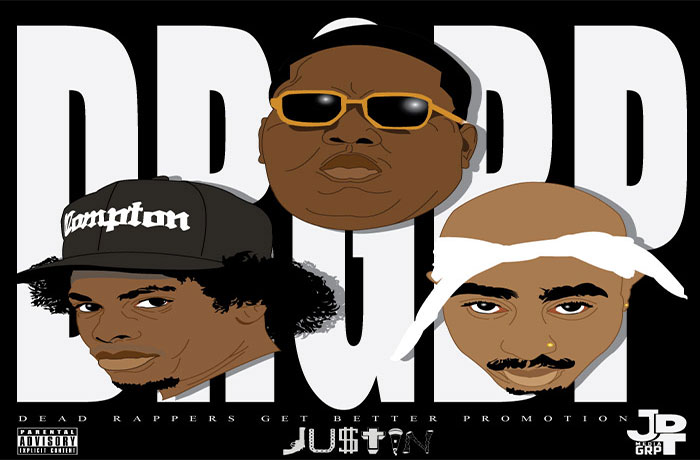 JU$TIN - Dead Rappers Get Better Promotion
