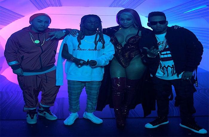 Kid Ink 'YUSO' Videoshoot BTS with Lil Wayne & Saweetie